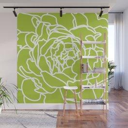 peony green Wall Mural