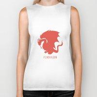 merlin Biker Tanks featuring Pendragon symbol, Merlin by carolam