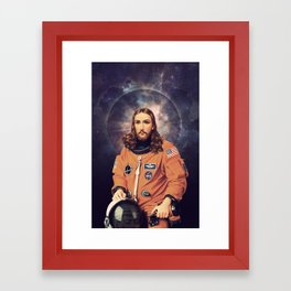 "Jesus ""Space Age"" Christ - A Holy Astronaut Framed Art Print"