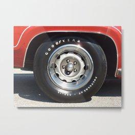 Muscle Car Wheel 2 Metal Print