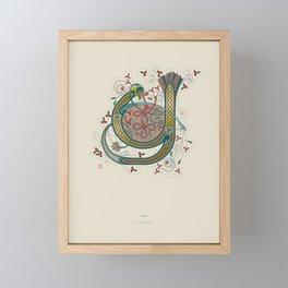 Celtic Initial Y Framed Mini Art Print