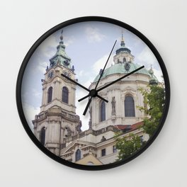 Church in Prague Wall Clock