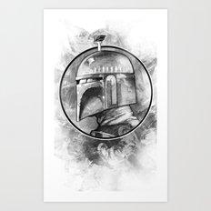 Boba Fett Remix Art Print