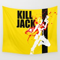 siren Wall Tapestries featuring KILL JACK - SIREN by Resistance