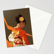 Polygonal kimono girl Stationery Cards