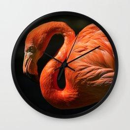 Flamingo photo Wall Clock