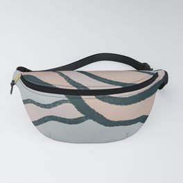Pink and Blue Abstract Landscape Fanny Pack