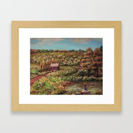 Ave Hurley - Tenant House In August [reversed] Framed Art Print