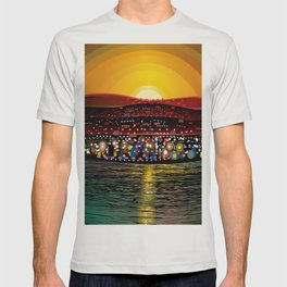 Angel Island Sunset (Square) T-shirt