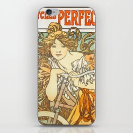 Cycles Perfecta by Alphonse Mucha, 1902 iPhone Skin