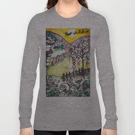 Ice Lake Christmas Long Sleeve T-shirt