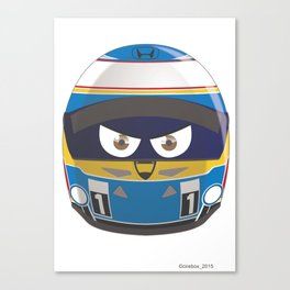 Fernando ALONSO_Helmet 2015 #14 Canvas Print