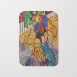 LE CYCLISTE (The Bicyclist) by Jean Metzinger Bath Mat