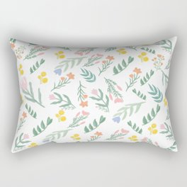 Assorted tiny colorful flowers pattern Rectangular Pillow