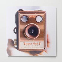 Kodak Brownie Flash B Camera Metal Print