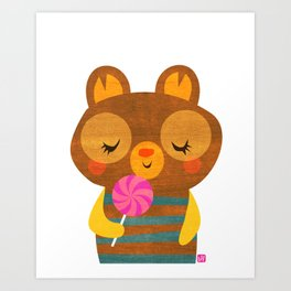 Lolli Bear Art Print