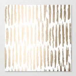 White Gold Sands Vertical Dash Canvas Print