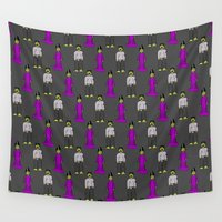 frankenstein Wall Tapestries featuring Frankenstein Couple by The Wellington Boot