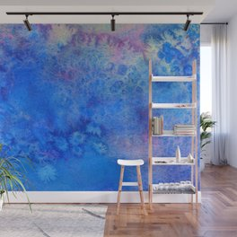Forget-Me-Not Watercolor Texture Wall Mural