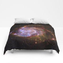 Spiral Galaxy Messier 101 Comforters