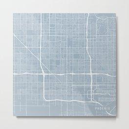 Phoenix Map, USA - Slate Metal Print