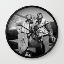 Tuskegee Airmen -- World War II Wall Clock