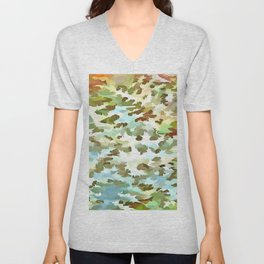 Dusty Miller Abstract Pop Art Unisex V-Neck