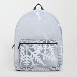 White snowflakes Backpack