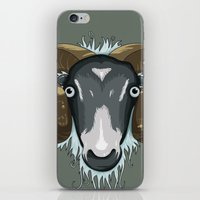 ram iPhone & iPod Skins featuring Ram by Stu Jones