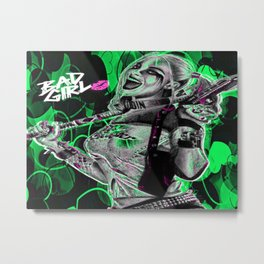 Bad Girl In Green Metal Print
