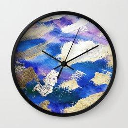 Gold Ocean Abstract Modern Design Wall Clock