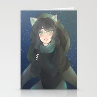 homestuck Stationery Cards featuring Jade Harley  by Hann-desu