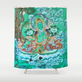 Green Tara Shower Curtain