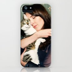 Meow means Woof Slim Case iPhone (5, 5s)
