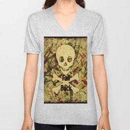 Fall Back Skull Unisex V-Neck