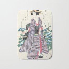 Vintage Japanese Art Bath Mat