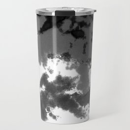 Splattered Black and White Tie Dye Travel Mug