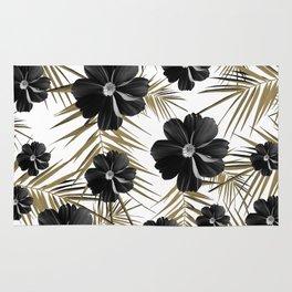 Tropical Diamond Flowers #1 #chic #floral #palms #decor #art #society6 Rug
