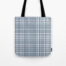 Weave Navy Tote Bag