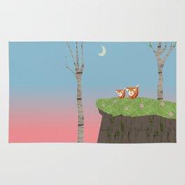 Mama Fox and Kit at Twilight Rug