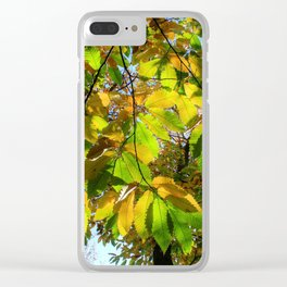 Covered by Leaves Clear iPhone Case