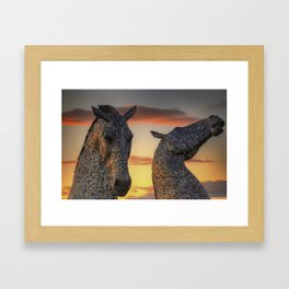 Kelpies of Scotland Framed Art Print