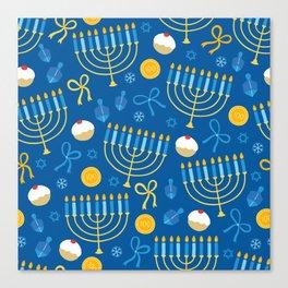 Hanukkah Menorah Pattern Canvas Print