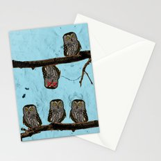 Perched Owls Print Stationery Cards