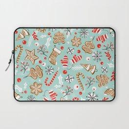 Gingerbread Dreams - Aqua Laptop Sleeve