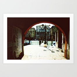 Venice - Archway onto the Grand Canal Art Print