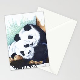 The Panda Couple Stationery Cards