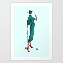 Croquet and Ink Four Art Print