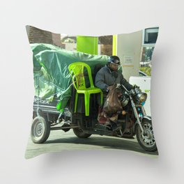Come ride with me Throw Pillow