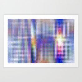 blue rhombus Art Print
